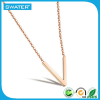 Fashion 2016 Women Chain Silver Gold Necklace Jewelry, Custom Stainlesss steel Letter Pendant Necklaces For Women
