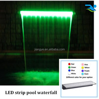 Floor standing water fountain or swimming pool waterfall wall by acrylic water outlet