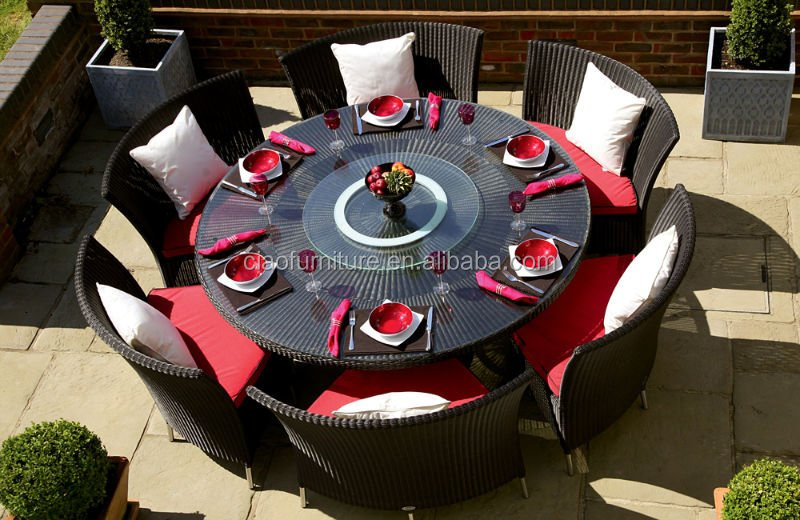 Modern Round Rotating Dining Table Used Restaurant Table And Chair