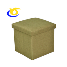 SOLID COLOR COLLAPSIBLE STORAGE OTTOMAN