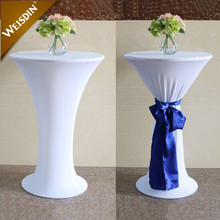 Guangzhou wholesale price stretch high top bar cocktail wedding spandex table cover