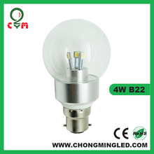 5w led b22 candle bulb 3 watt clear ball bulb
