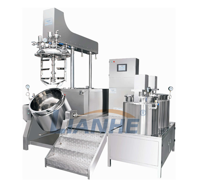 Single way stirring vacuum mixer
