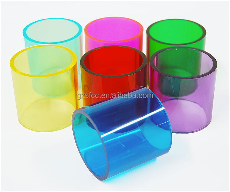 factory sell 50mm 100mm transparent color acrylic <strong>tube</strong>