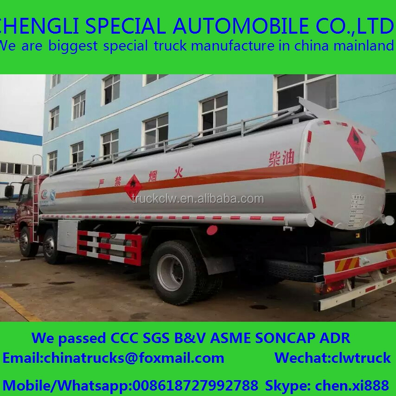 6x4 crude oil tank truck diesel delivery truck fuel transporter HFC JIANGHUAI JAC