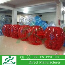 outdoor soccer bubble loopy ball with red color BB61