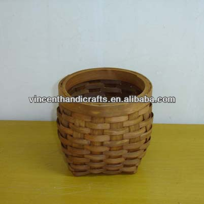 Antique small wooden basket