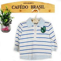 beautiful handsome long sleeve baby boys polo shirt