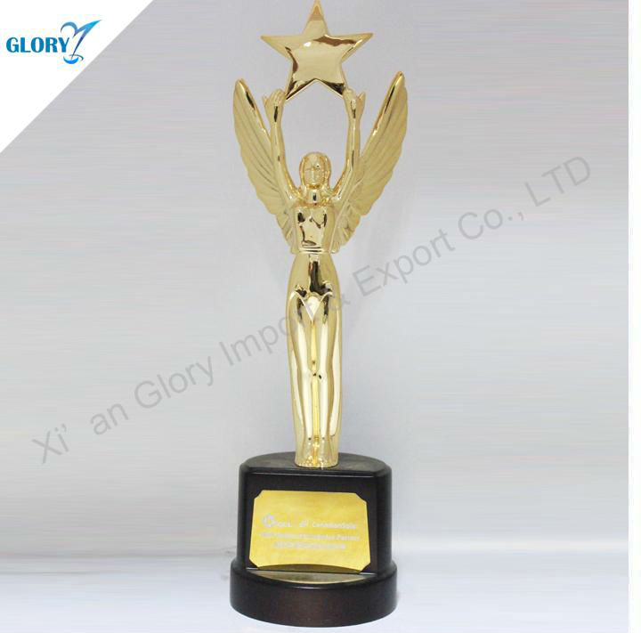 Star trophy handmade welded metal sculpture