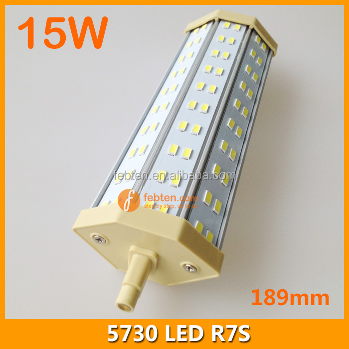189MM 15W LED R7S replace double ended halogen lamp bulb 85-265VAC