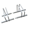 Powder Coated Silver Freestanding Detachable Bike Stand