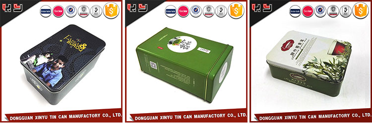 Wholesale Small Tea Tin Cans With Double Lid / Promotional Tea Tin Box