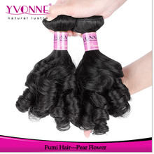 2015 fast delivery dhla shipping pear flower 100 human hair fumi virgin hair