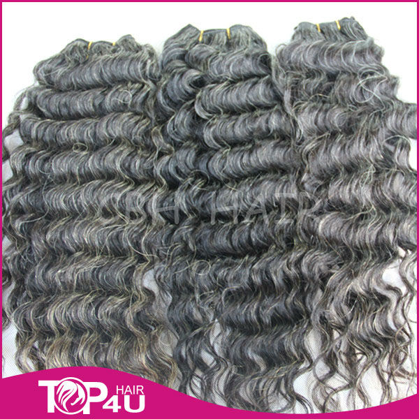 100% natural unprocess brazilian grey hairpieces wholesale price