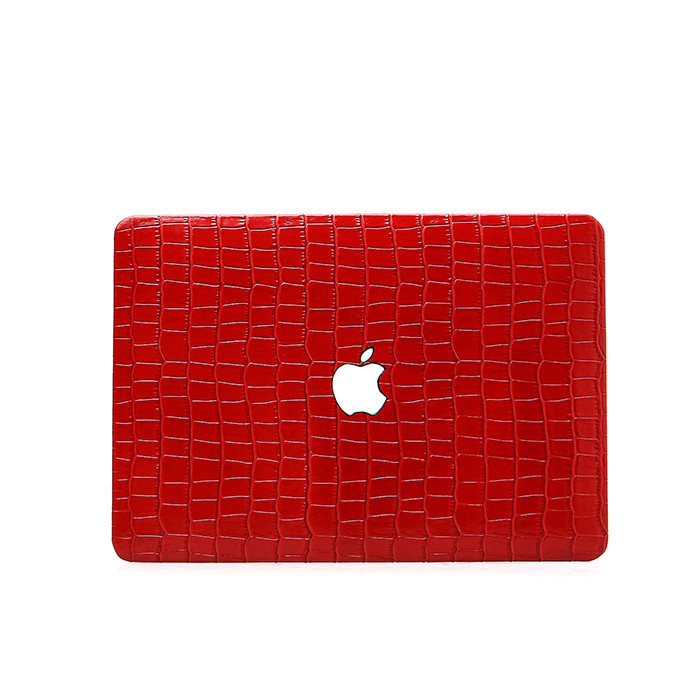 Hot products for Macbook case high quality embossed crocodile  leather laptop case_6