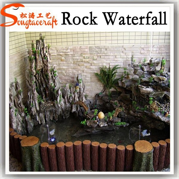 high quality fountain for malls outdoor waterfall resin outdoor wall mounted waterfall features