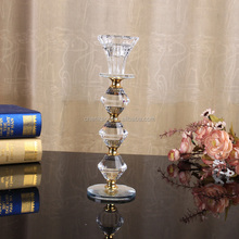 tall antique crystal candle stand centerpieces for wedding table