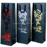 luxury hot stamping paper bag for packaging usuage garment/wine/socks/gift paper bag