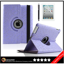 Keno For iPad 2/3/4 PU Leather 360 Degree Case Universal Flip Leather Cases Factory Wholesale