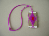 universal cellphone silicone case with lanyard necklace