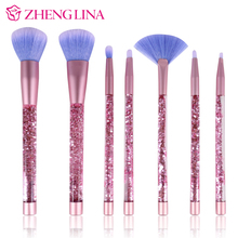Personalized creative 7pcs liquid glitter crystal makeup brush