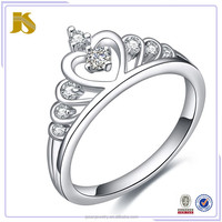 2016 Top Selling New Arrival Silver Women And Girls Ring Designs