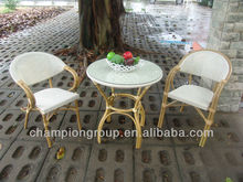 Aluminum Frame Bamboo look like Patio Furniture
