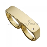925 silver double finger brand men ring fashion jewelry brand ring
