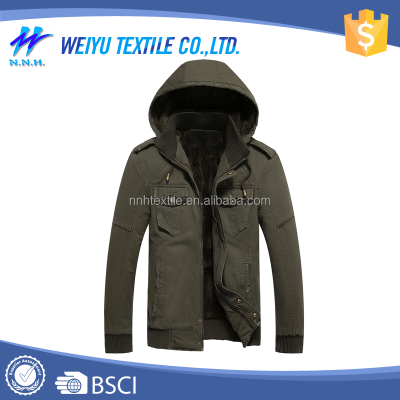 Hot sell 100% cotton jackets men for winter