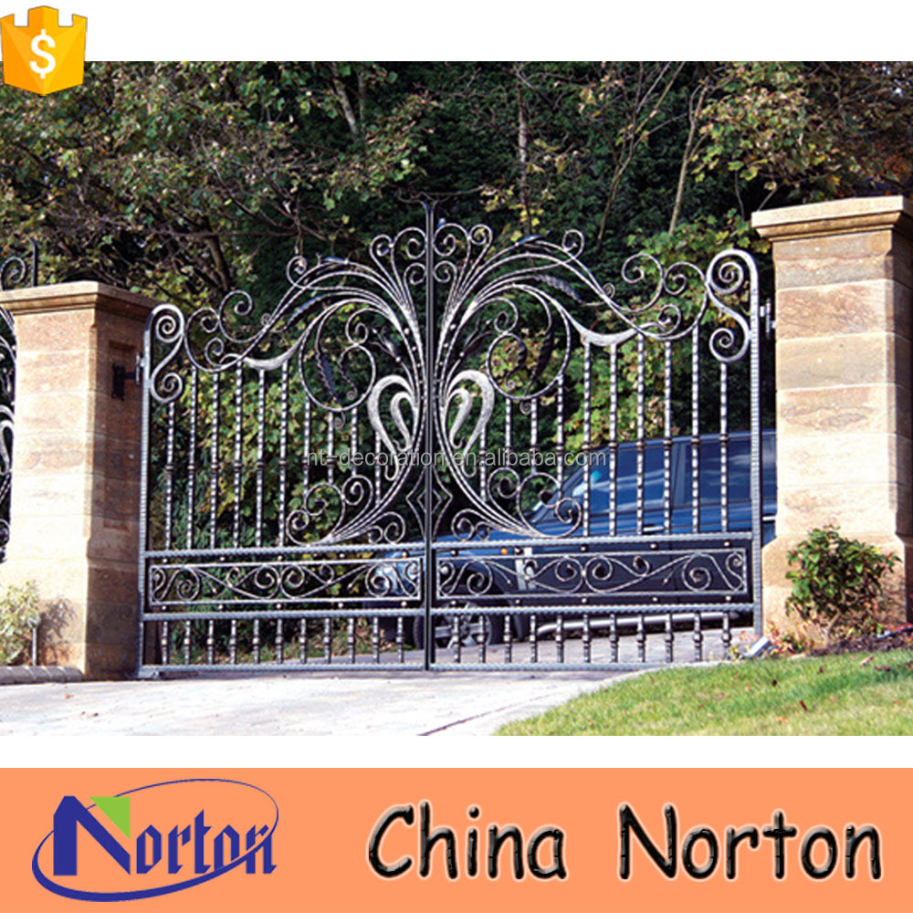 simple indian house wrought iron gate grill designs NTIRG-361X
