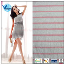 100% Polyester Yarn Dyed Jacquard Lace Fabric Single Jersey Stripe Fabric for Garment/Bathrobe/Dress/etc