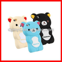Hot sale creative cute 3D animal shape rilakkuma bear phone case