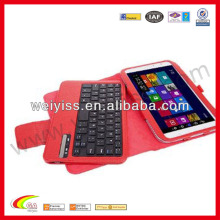 New style 100% genuine leather case for Ipad with keyboard,for ipad2/3/4 case