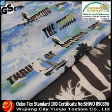 WATER PROOF PRINT POLYESTER MICROFIBER FABRIC