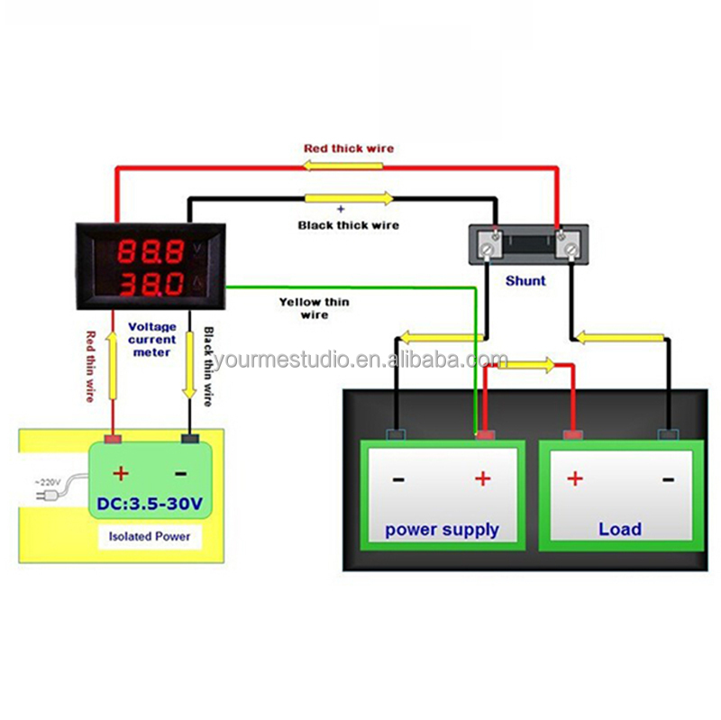 factory directly 0 28 u0026quot  led red blue digital display dc 0