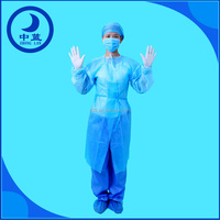 Hot Selling Sterile Nonwoven Working Suits/Surgical Gown/Operation Coat