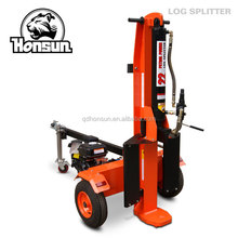 CE EPA certificate 6.5hp 200cc Honda GX200 gas engine horizontal vertical 26t hydraulic log splitter for tractor
