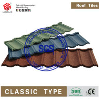 Colorful stone coated metal roofing tiles,metal roofing materials