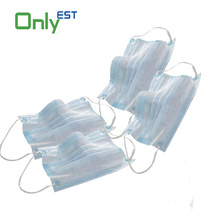 Disposable nonwoven earloop white transparent face mask for food service