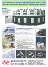 Specialized Manufacturer of Various Shoe Injection Molding Machines