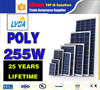 solar panel 255w polycrystalline/poly Solar Panels 255watts 30V/poly Solar Panel 255W Stock in Colombia market