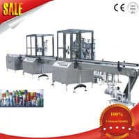 automatic production machine bottle liquid detergent filling capping labeling line