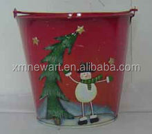Metal garden pot new christmas decoration 2013