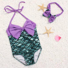 girl swimwear baby toddle 2 Pcs Scale sequin swimsuit Mermaid Bathing Suit Kids Ariel The Little Mermaid Princess Swimsuit