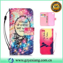 Wholesale alibaba leather cover case for Samsung galaxy s advance back cover pouch flip case with card slots