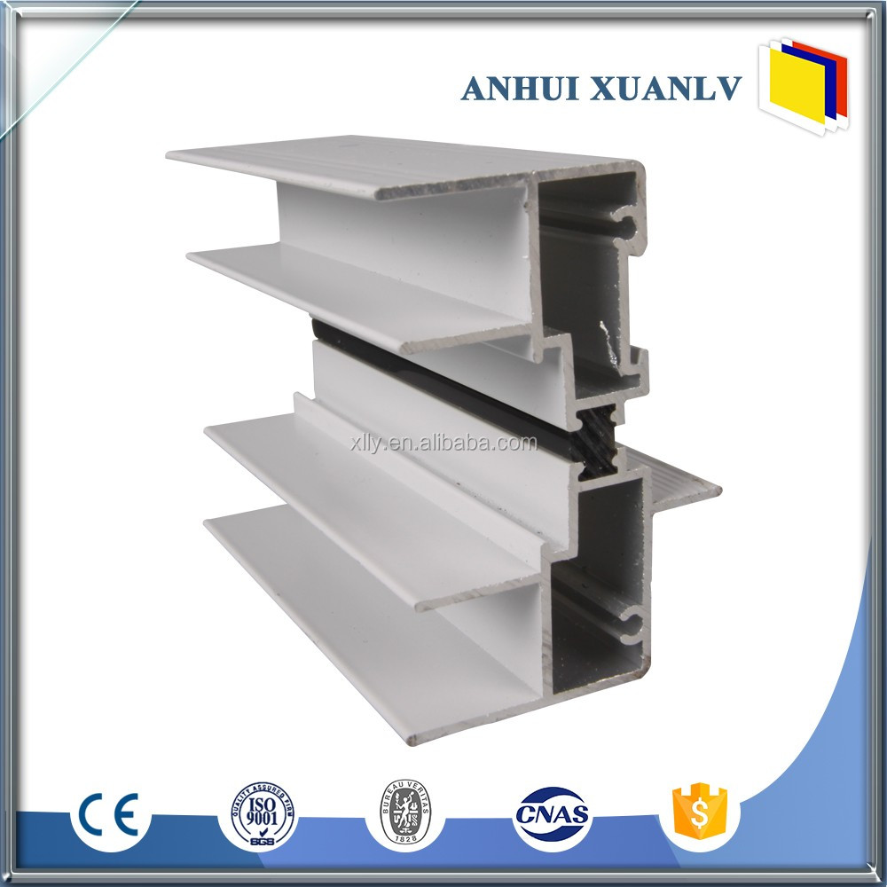 Airproof shining aluminum window and door profile