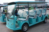 Cheap classic electric sightseeing bus tour car with 11 seats made by Dongfeng Motor for sale