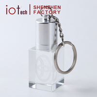 New Product Crystal Glass USB Flash Drive with LED Light 32gb Usb Memory Stick for Promotional Gift