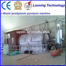2016factory directly supply newest waste tire /plastic/rubber convert to fuel oil furnace oil pyrolysis plant