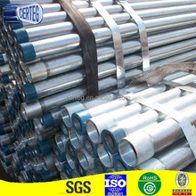 Customized 50mm schedule 80 ERW corrugated Galvanized Round mild Steel culvert Pipes